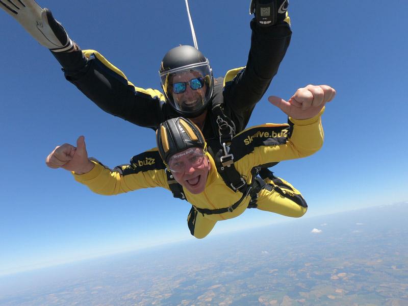 Graeme's Tandem parachute jump