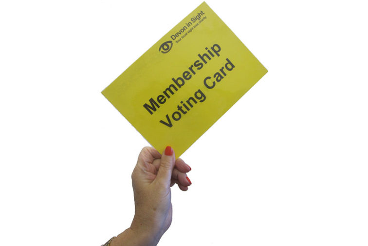 membership voting card