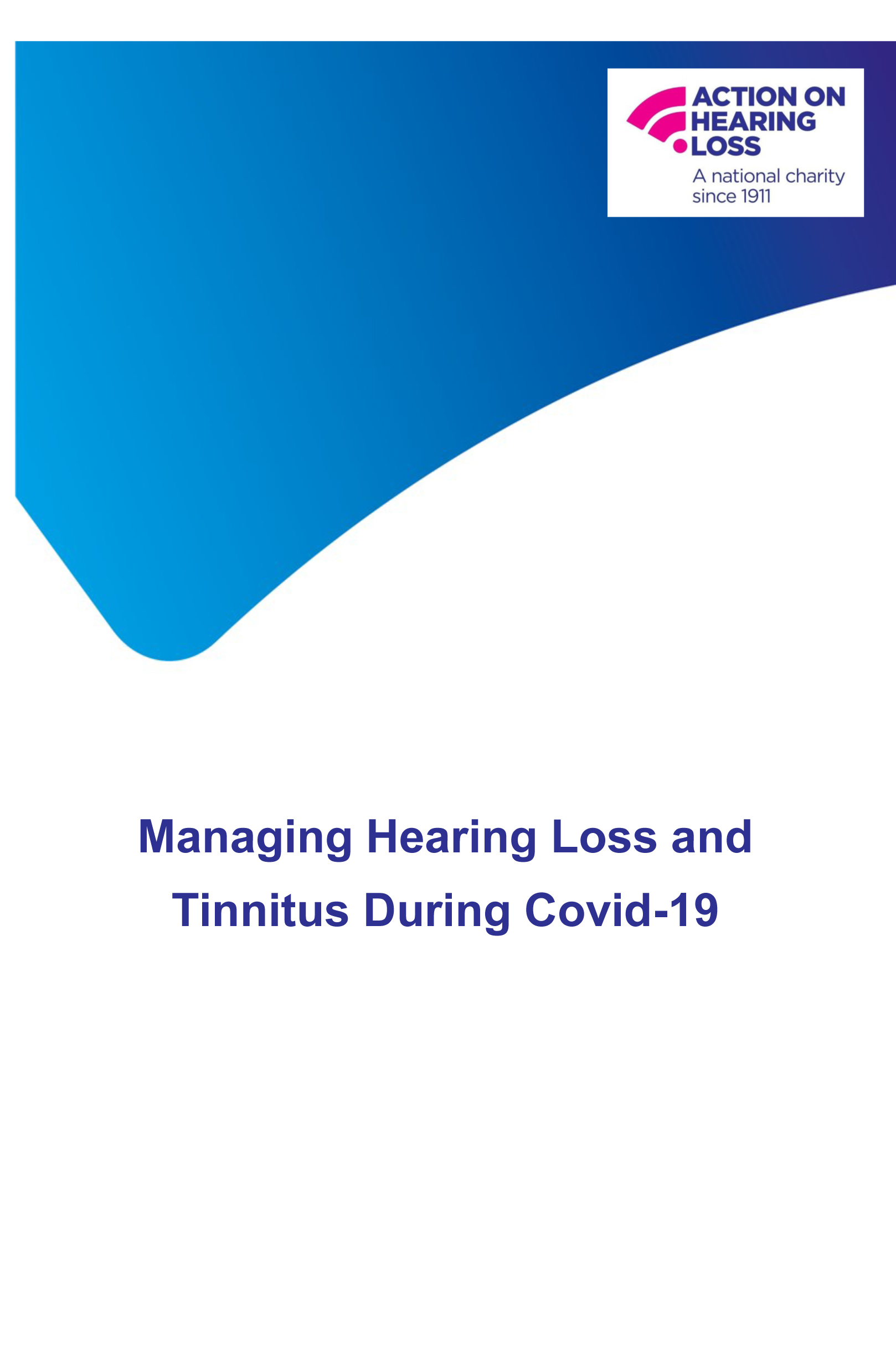 Managing Hearing Loss and Tinnitus During Covid-19-1