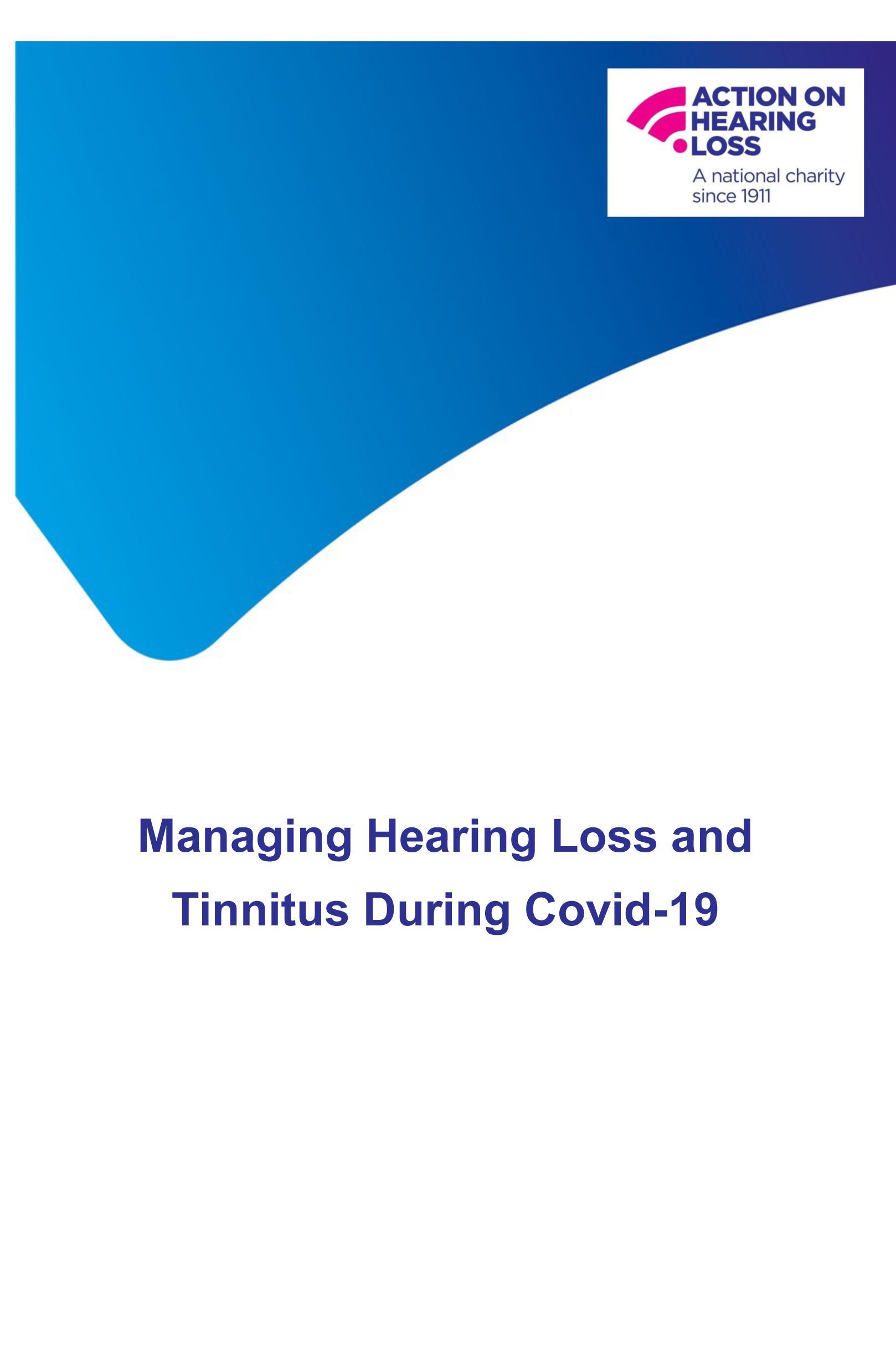Managing Hearing Loss and Tinnitus During Covid-19-1