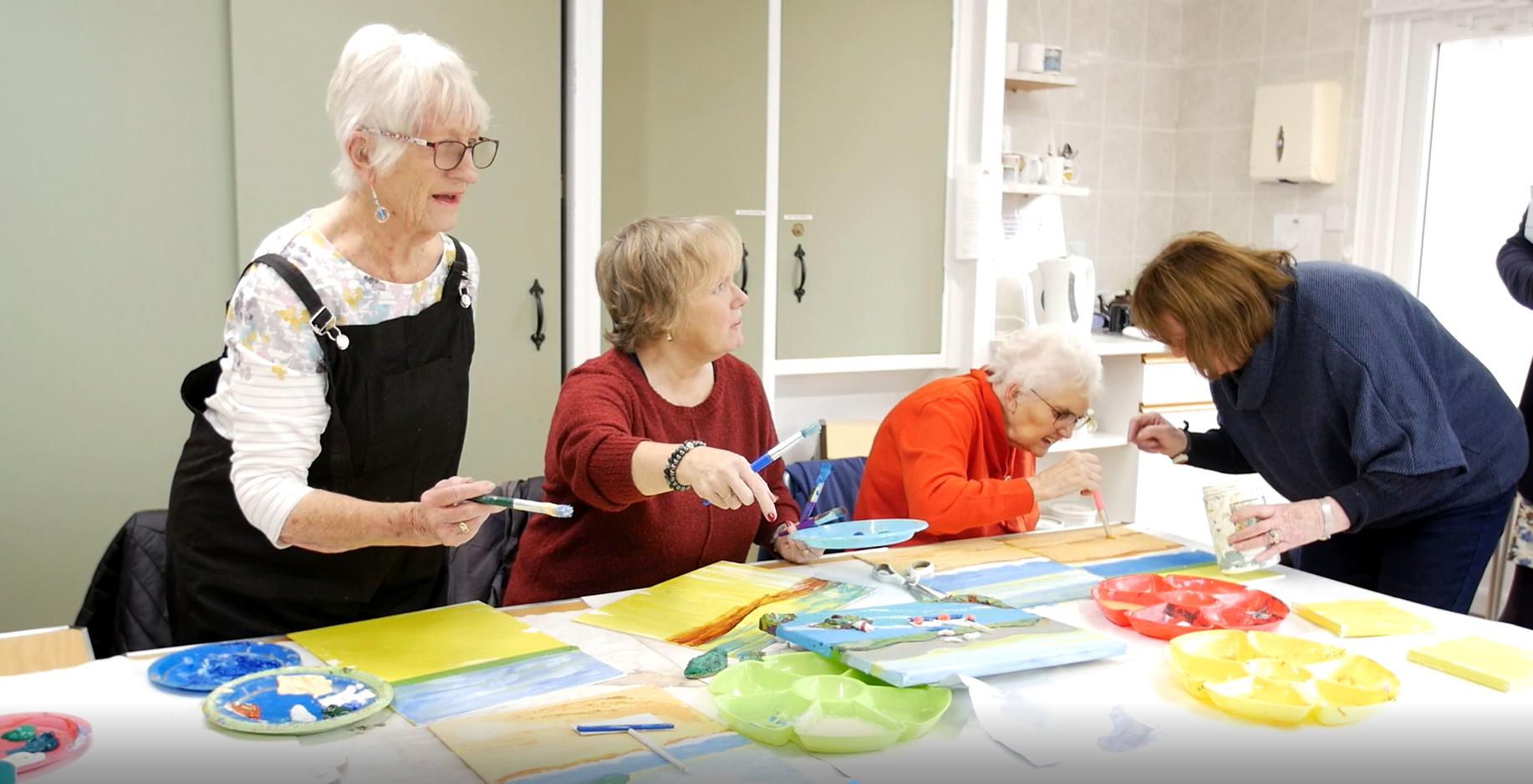 Clients at an Art Workshop